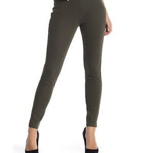 Original Hue colored denim leggings olive green